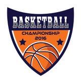 Basketballlogo, Amerika-Logo Lizenzfreies Stockbild