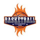 Basketballlogo, Amerika-Logo lizenzfreie abbildung