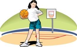 Basketballmädchen Stockfotografie