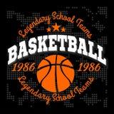 Basketballmeisterschaftslogosatz und -Gestaltungselemente Stockbilder
