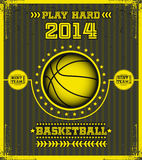 Basketballplakat. Lizenzfreie Stockfotografie