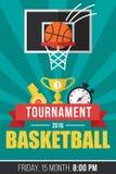 Basketballplakat Stockbilder