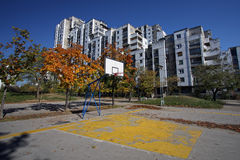 Basketballplatz Stockbild