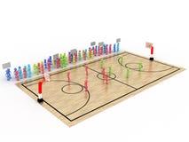 """Basketballplatz mit Spieler und Zuschauer â """"– 6 stock abbildung"""