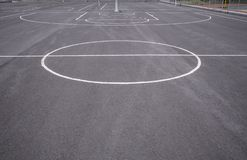 Basketballplatzlinien stockfotografie