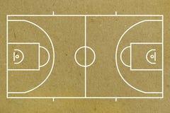 Basketballplatzplan Lizenzfreies Stockfoto