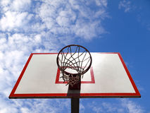 Basketballring Stockfoto