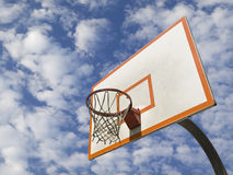 Basketballring Stockbild