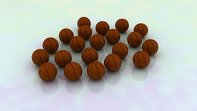 Basketballs. It's 3d computer generated image using 3ds max and vray stock illustration