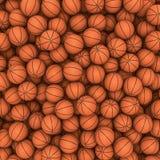 Basketballs background. 3D render of hundreds of basketballs filling image Stock Image