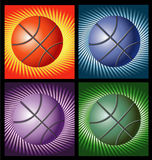 Basketballs with lines background Royalty Free Stock Photos