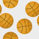 Basketballs pattern. Pattern design with basketballs, abstract art Royalty Free Stock Image