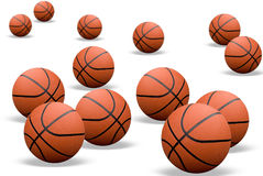 Basketballs with shadows Stock Images