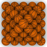 Basketballs stacked pyramid Royalty Free Stock Image