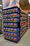 Basketballs on store shelves Royalty Free Stock Image
