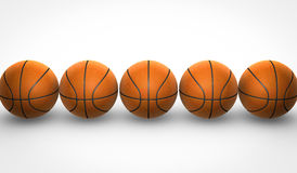 Basketballs on white background Stock Photography