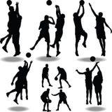 Basketballschattenbild Stockbild