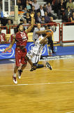 Basketballschießen, Proa, Frankreich Lizenzfreies Stockbild