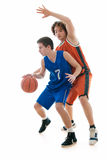 Basketballspiel Stockbild