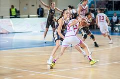 Basketballspiel Stockbilder