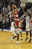 Basketballspiel, Eintragfaden Ben-Woodsides. Stockfotos
