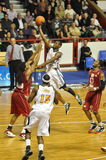 Basketballspiel, Yannick Bokolo. stockfotos