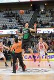 Basketballsprung Lizenzfreies Stockbild