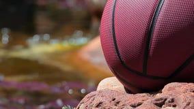 Basketballsteinflusshintergrund niemand hd Gesamtlänge stock video footage
