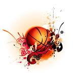 Basketballvektorabbildung lizenzfreies stockbild