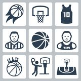 Basketballvektorikonen Stockbild