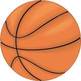 Basketballvektorillustration lizenzfreie abbildung