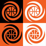 Basketballwirbelsturm Lizenzfreie Stockfotos