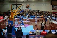 Basketbalspel tussen Brescia en Verona Royalty-vrije Stock Fotografie