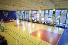 Basketbalspel van NGAVT-team tegen een tegenstander royalty-vrije stock foto