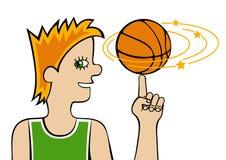 Basketbalspeler Stock Fotografie