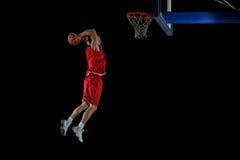 Basketbalspeler in actie royalty-vrije stock foto