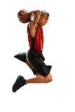 Basketbalspeler het Onderdompelen Stock Foto's