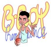 Basketbalspeler (jong geitje) Stock Foto
