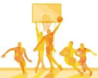 Basketbalspeler op het gebied royalty-vrije illustratie