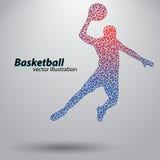 Basketbalspeler van de driehoeken Stock Afbeeldingen