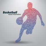 Basketbalspeler van de driehoeken Royalty-vrije Stock Foto