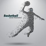Basketbalspeler van de driehoeken Stock Foto
