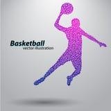 Basketbalspeler van de driehoeken Royalty-vrije Stock Fotografie