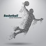 Basketbalspeler van de driehoeken Stock Afbeelding