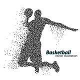 Basketbalspeler van de driehoeken Stock Fotografie