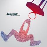 Basketbalspeler van de driehoeken Royalty-vrije Stock Afbeelding