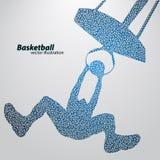 Basketbalspeler van de driehoeken Stock Foto's