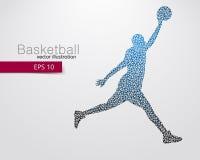 Basketbalspeler van de driehoeken Royalty-vrije Stock Foto's