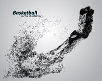 Basketbalspeler van deeltjes Royalty-vrije Stock Foto's