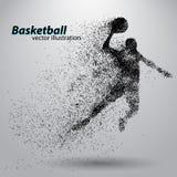 Basketbalspeler van deeltjes Stock Afbeeldingen